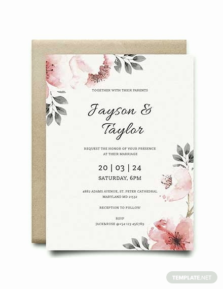 Wedding Invitation Templates Word Beautiful Free Blank Wedding Invitation Template Download 344