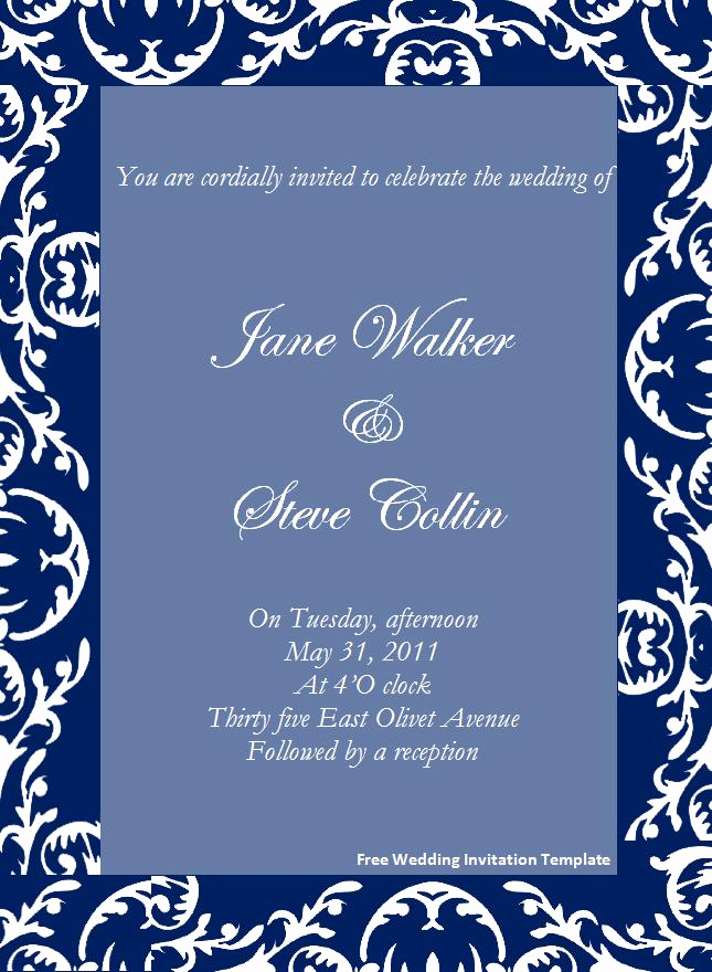 Wedding Invitation Templates Word Best Of Invitation Template Word