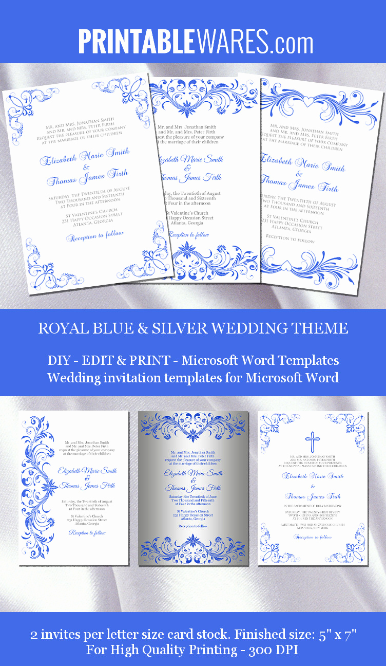Wedding Invitation Templates Word Lovely Royal Wedding Invitation Templates