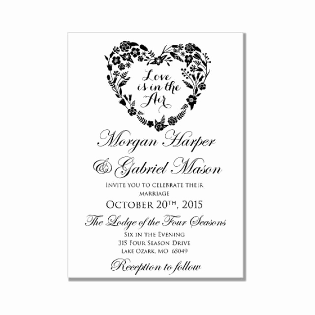 wedding invitation template love is in the air heart wedding invitation instant diy wedding invitation microsoft word