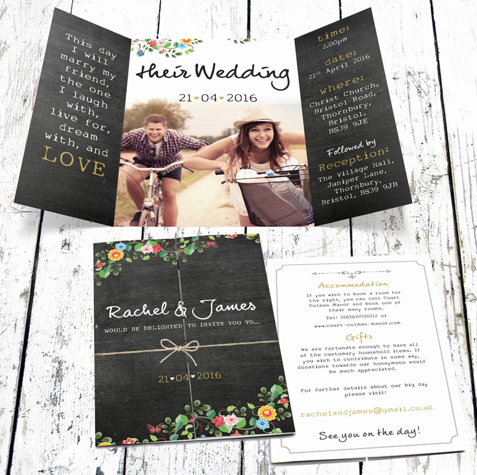 Wedding Invitations with Pictures Awesome Bohemian Wedding Invitations