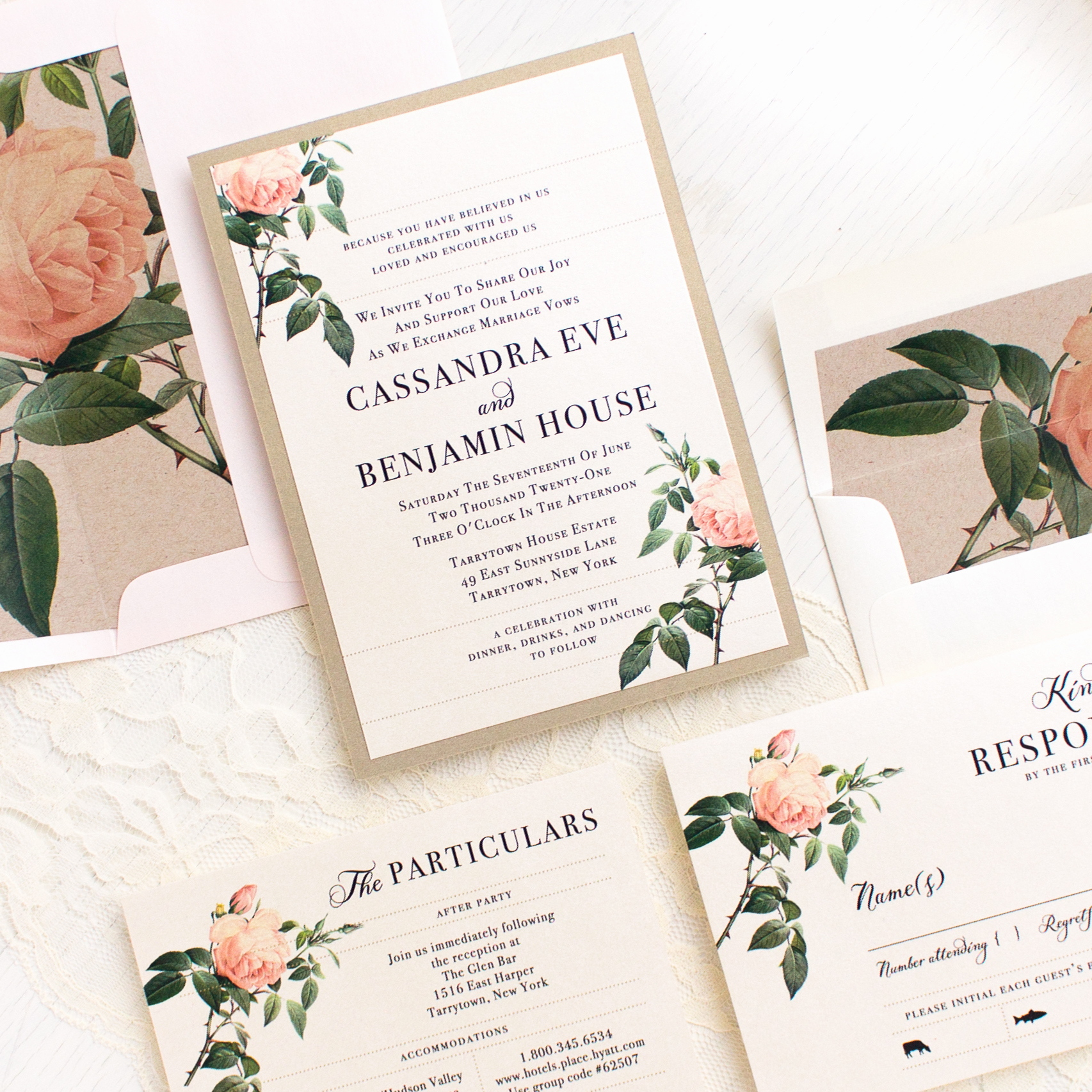 Wedding Invitations with Pictures Awesome Ivory & Blush Floral Customizable Wedding Invitations