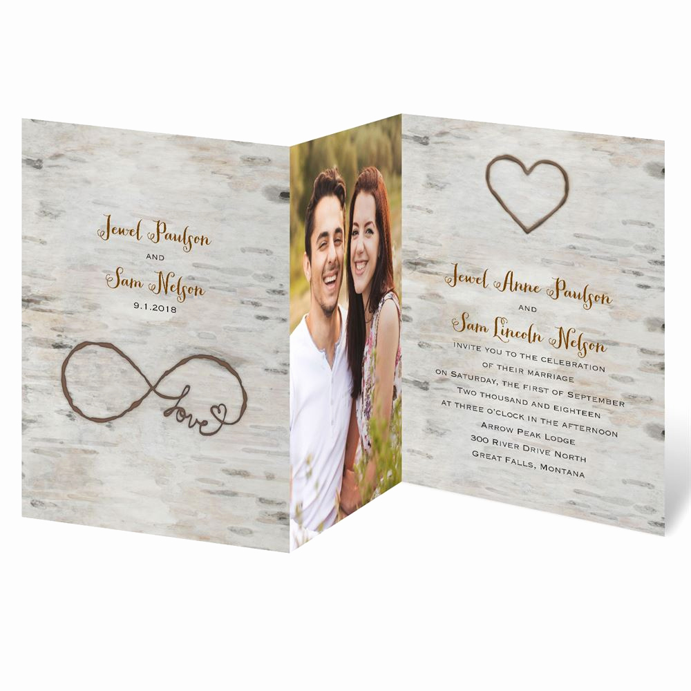 Wedding Invitations with Pictures Awesome Love for Infinity Zfold Invitation