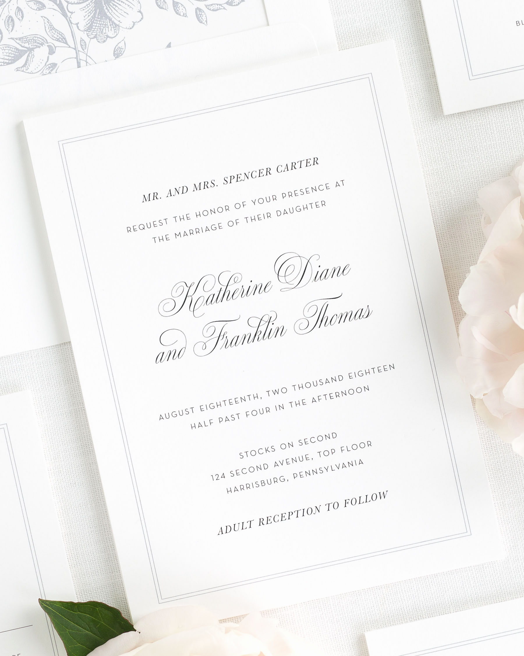 Wedding Invitations with Pictures Best Of Simply Classic Wedding Invitations Wedding Invitations