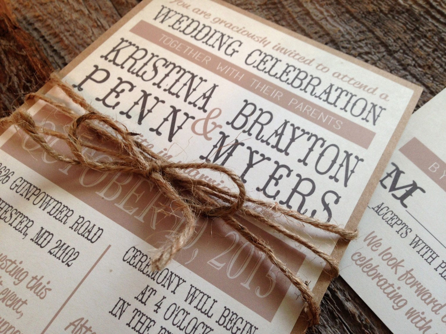 Wedding Invitations with Pictures Fresh Rustic Wedding Invitation Setcountry Chic Wedding