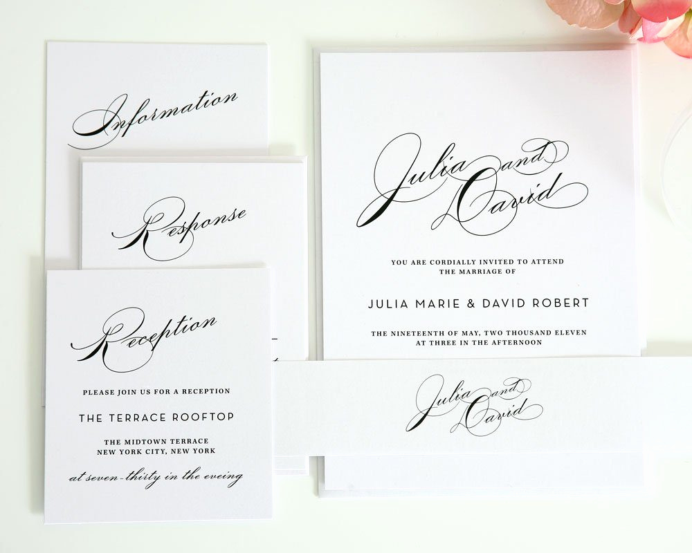 Wedding Invitations with Pictures Fresh Simple Wedding Invitation Suite with Names – Wedding
