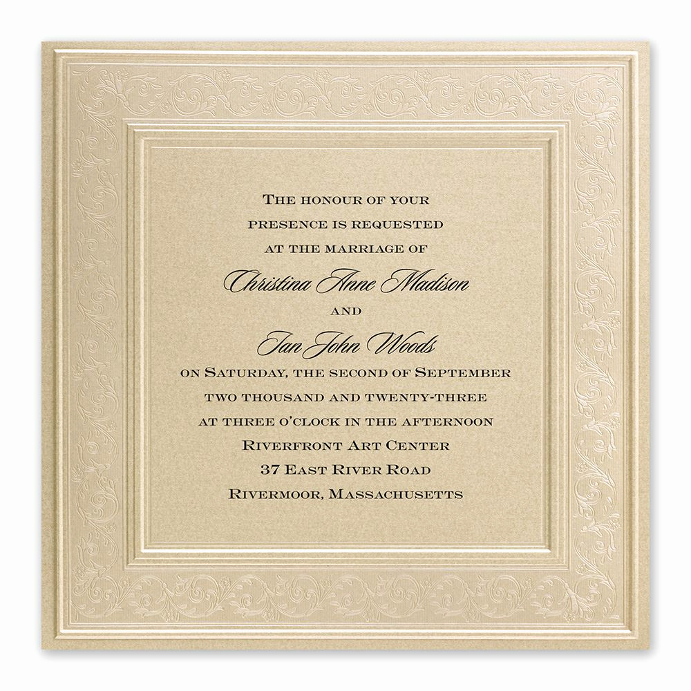 Wedding Invitations with Pictures Inspirational Framed In Luxury Invitation