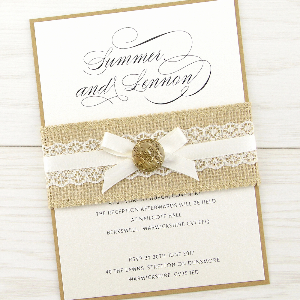the dixie parcel wedding invitation