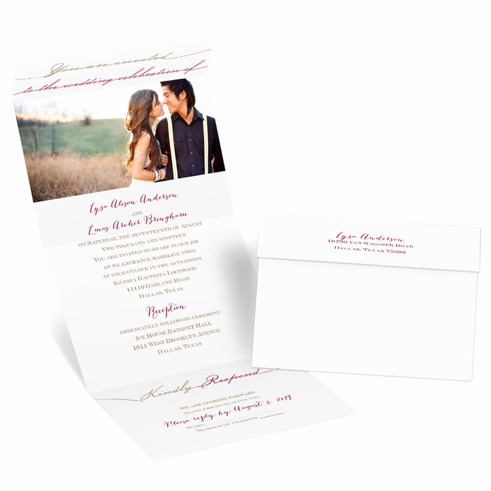 Wedding Invitations with Pictures Unique Simply Inviting Seal and Send Invitation