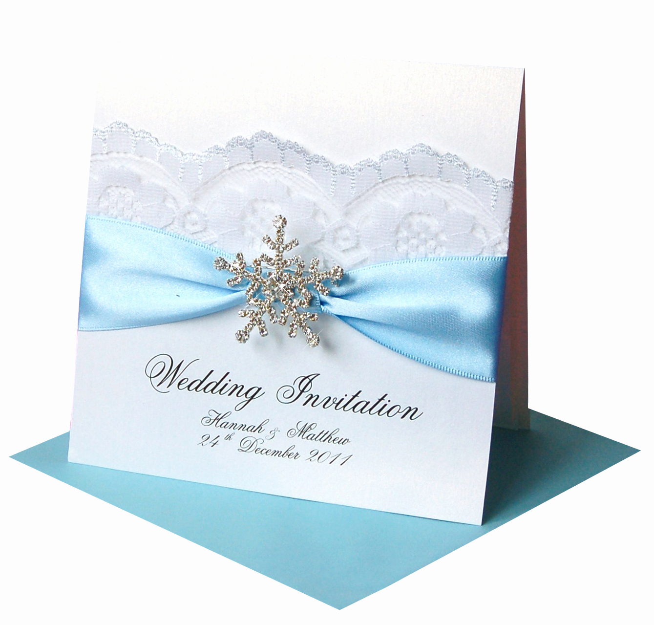 Wedding Invitations with Pictures Unique Winter Wedding Invitations – 'snowflake' Crystal