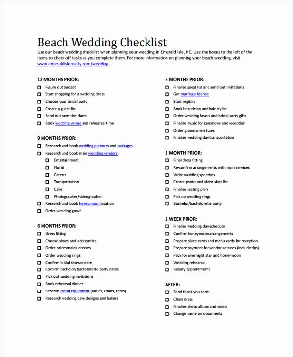 Wedding List to Do Beautiful Sample Wedding Checklist 24 Documents In Pdf Word