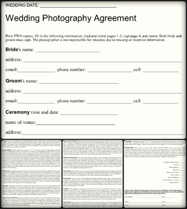 Wedding Photography Contract Pdf Elegant 5 Sample Wedding Graphy Contract Templates Word Pdf