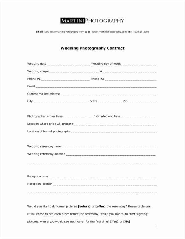 Wedding Photography Contract Template Beautiful 19 Graphy Contract Templates