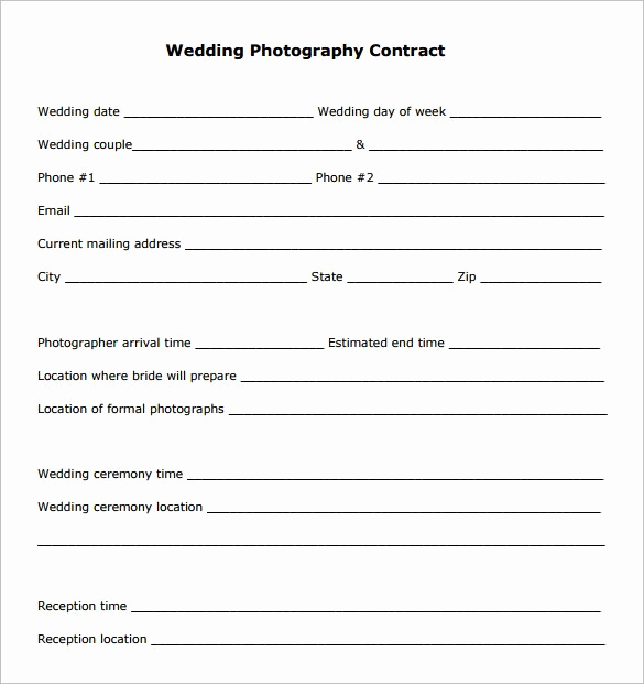 Wedding Photography Contract Template Elegant 20 Graphy Contract Template