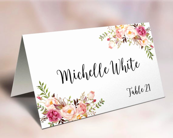 Wedding Place Cards Template Awesome Wedding Place Cards Place Card Template Editable Reserved