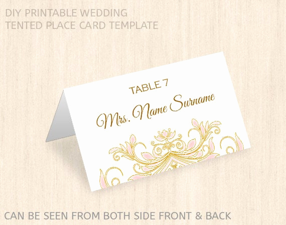Wedding Place Cards Template Beautiful Printable Wedding Place Card Templatename Place Cardeditable