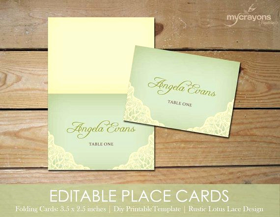 Wedding Place Cards Template Best Of Editable Place Cards Template by Mycrayons Instant