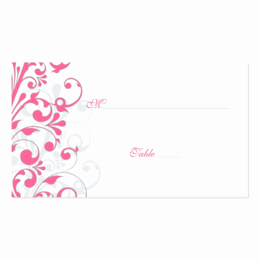 Wedding Place Cards Template Best Of Pink Grey White Floral Wedding Place Cards Double Sided