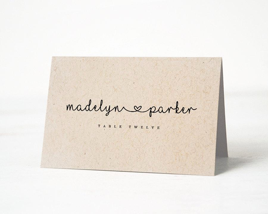 Wedding Place Cards Template Best Of Printable Place Card Template Wedding Place Cards