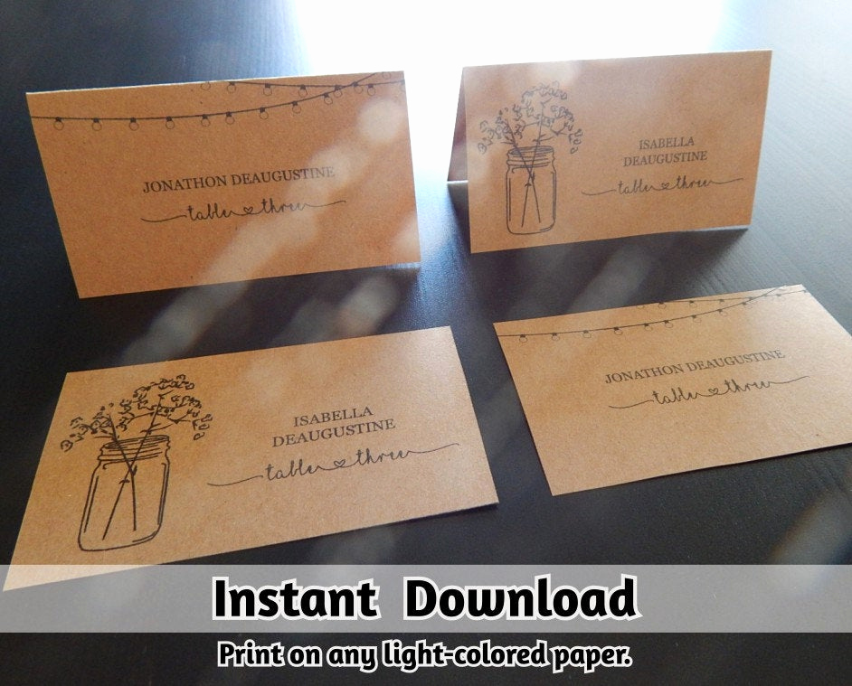 Wedding Place Cards Template Best Of Wedding Place Card Printable Placecard Template Download
