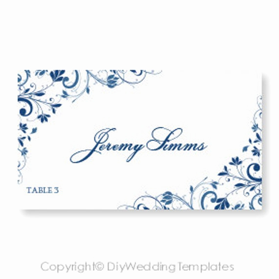 Wedding Place Cards Template Best Of Wedding Place Card Template Download Instantly by
