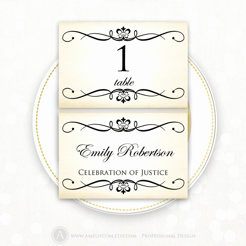 Wedding Place Cards Template Elegant Place Card Printable Template Wedding Instant Download Diy
