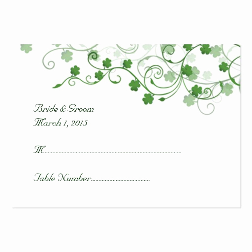 Wedding Place Cards Template New Clover Irish Wedding Place Card Business Cards Pack