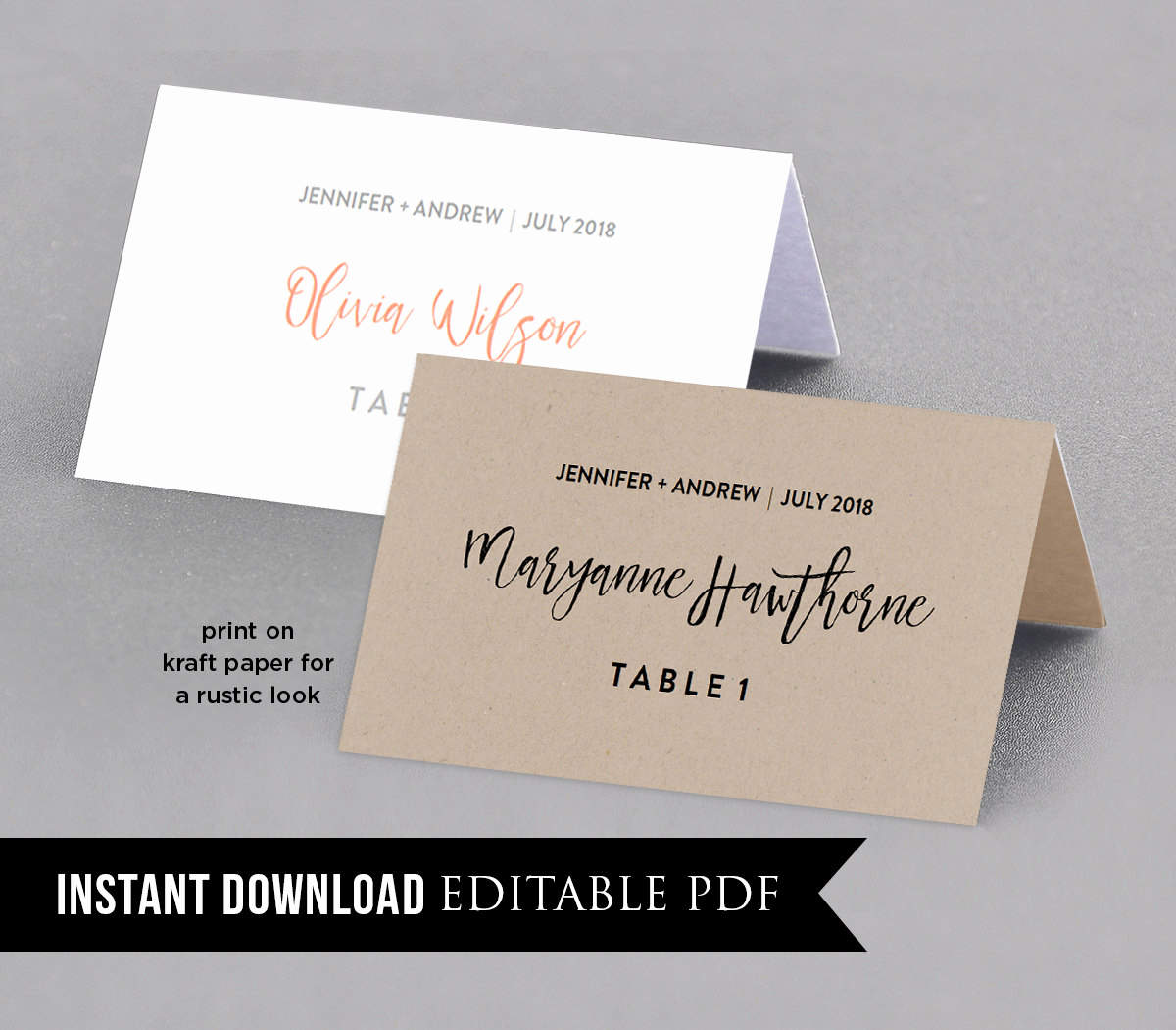 Wedding Place Cards Templates Beautiful Wedding Place Card Template Table Number Name Card Seating