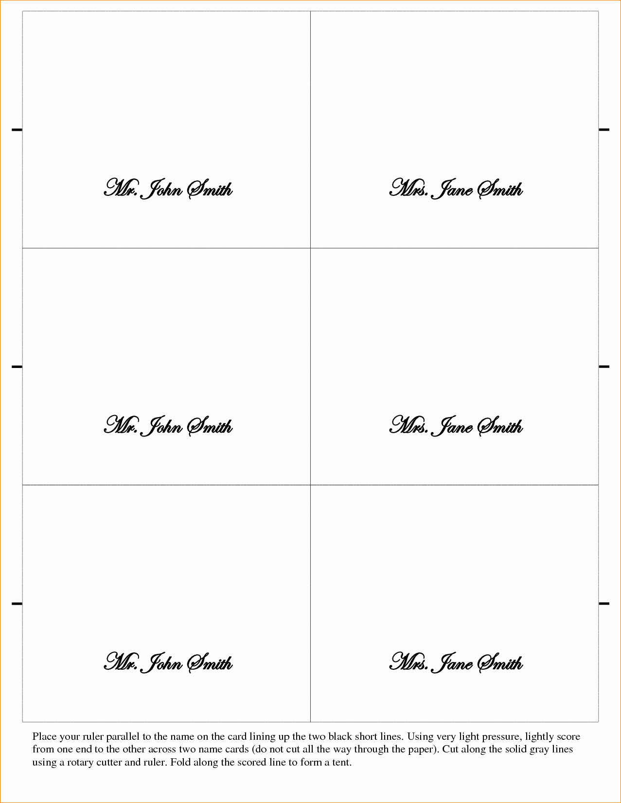 Wedding Place Cards Templates Best Of 5 Placecard Template