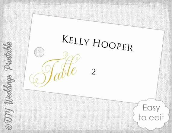 Wedding Place Cards Templates Best Of Wedding Escort Card Template Gold Diy Wedding Place Card