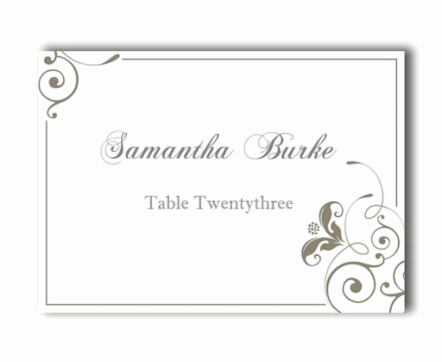 Wedding Place Cards Templates Elegant Place Cards Wedding Place Card Template Diy Editable