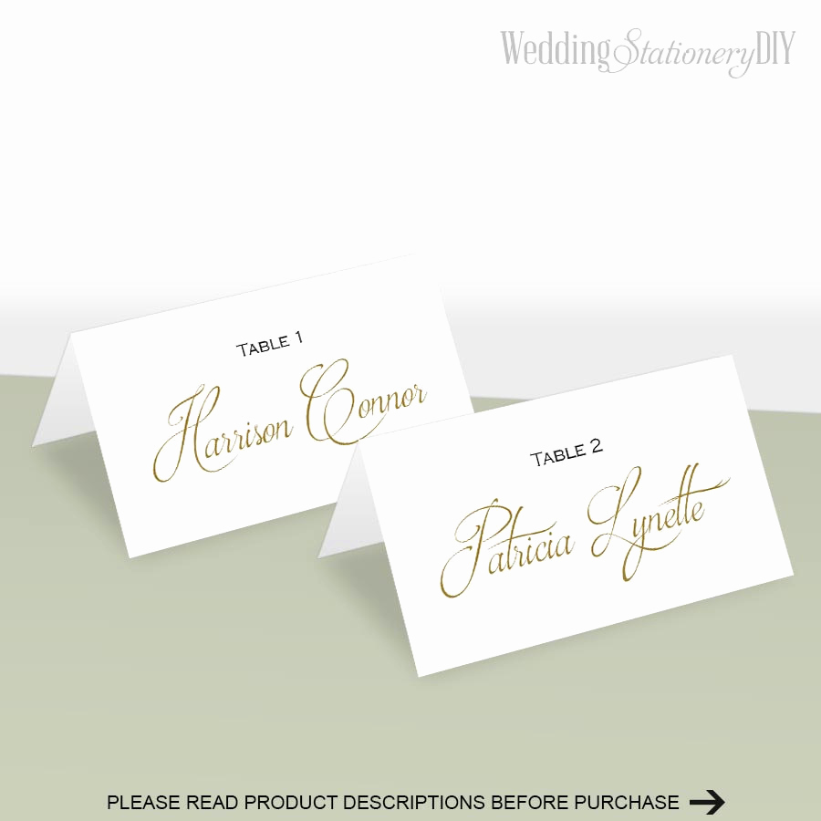 Wedding Place Cards Templates Fresh Simple Elegance Place Card Template Place Cards Wedding Diy