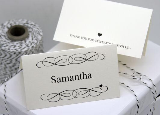 Wedding Place Cards Templates Lovely Free Diy Printable Place Card Template and Tutorial