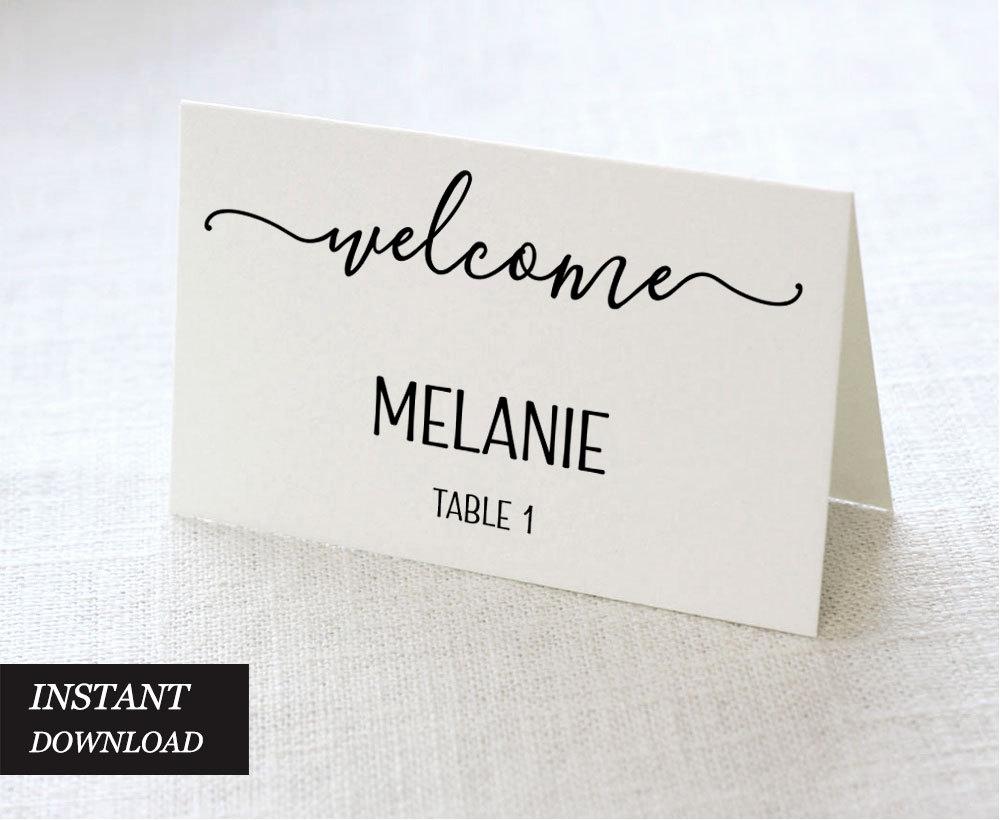 Wedding Place Cards Templates Luxury Wedding Place Cards Wedding Place Card Printable Place Card