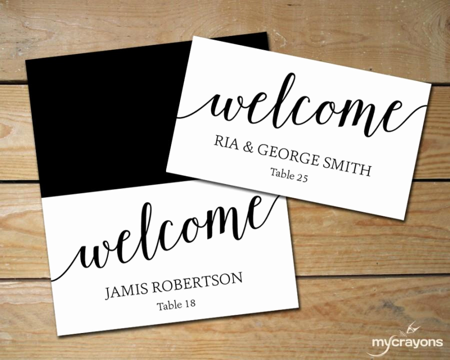 Wedding Place Cards Templates Unique Diy Place Cards Wedding Black and White Place Cards