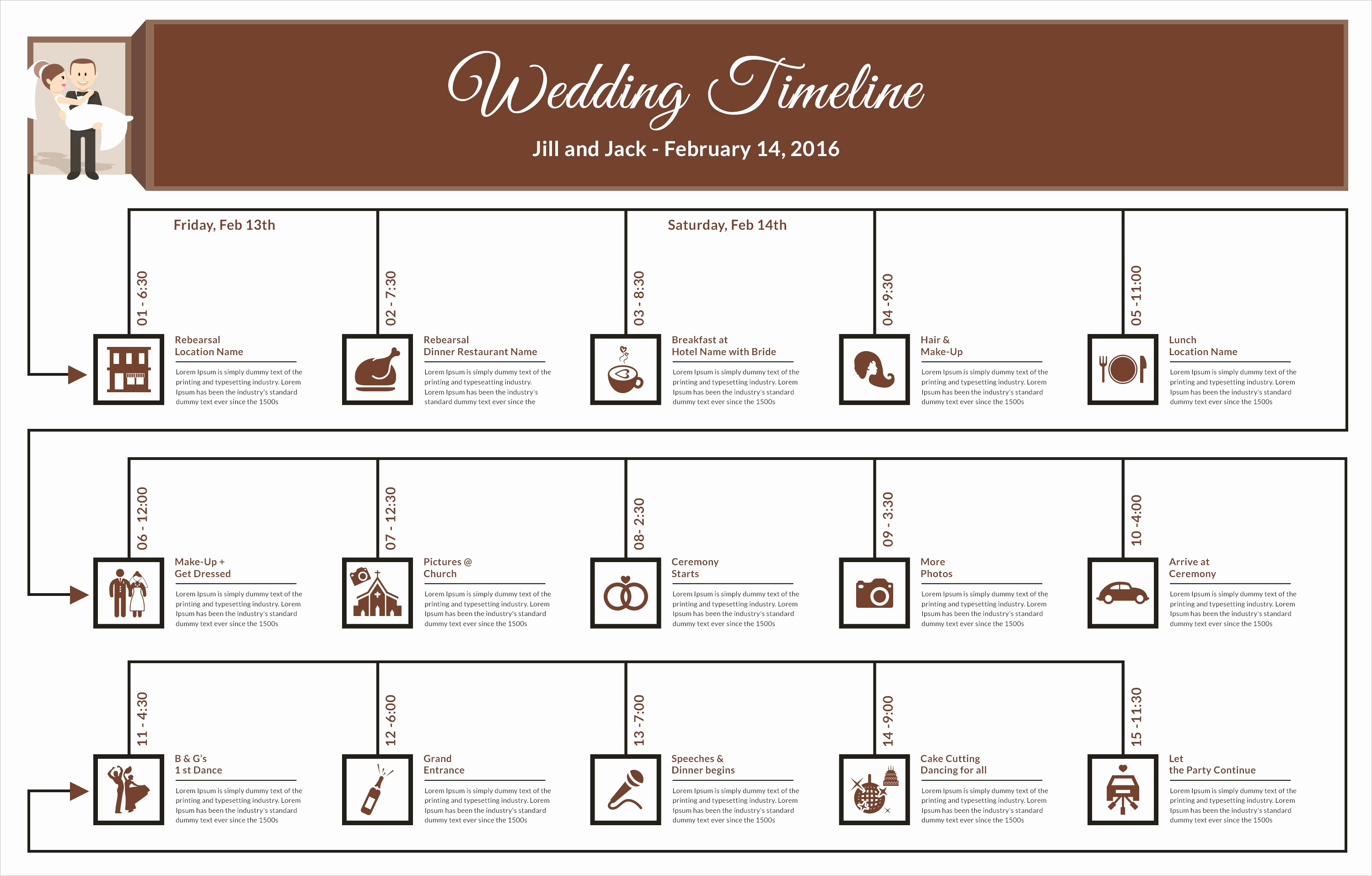 Wedding Planning Timeline Template Fresh Free Timeline Template Designs