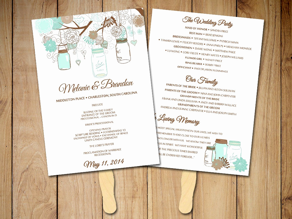 Wedding Program Fan Template Awesome Request A Custom order and Have something Made Just for You