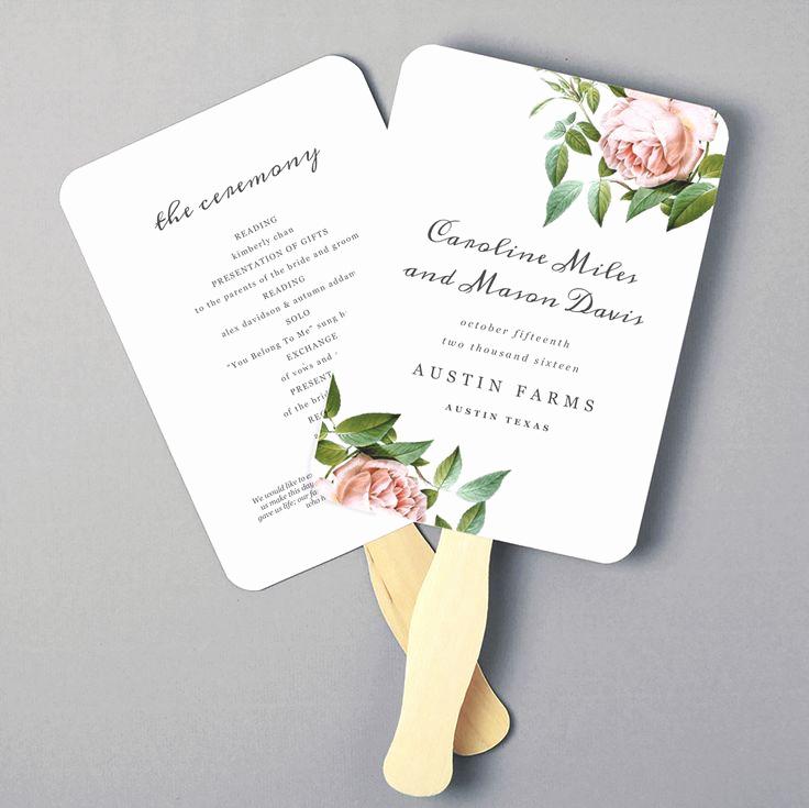 Wedding Program Fan Template Fresh Best 25 Wedding Program Templates Ideas On Pinterest