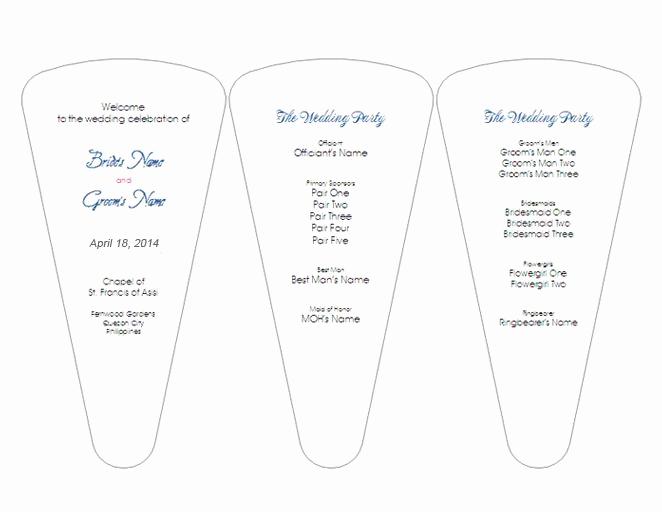 Wedding Program Fan Template New Creative Wedding Ceremony Program Diy Templates