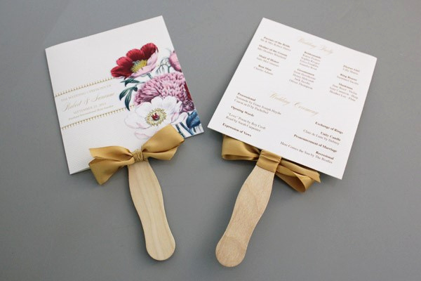 Wedding Program Fan Templates Awesome A Round Up Of Free Wedding Fan Programs B Lovely events