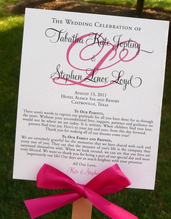 Wedding Program Fan Templates Best Of Diy Ceremony Program that Doubles as A Fan