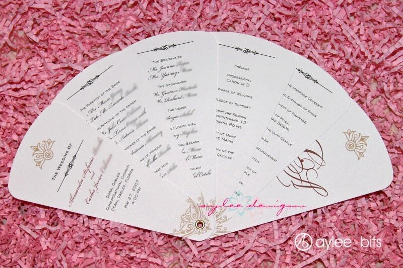 Wedding Program Fan Templates Luxury Diy Fan Programs