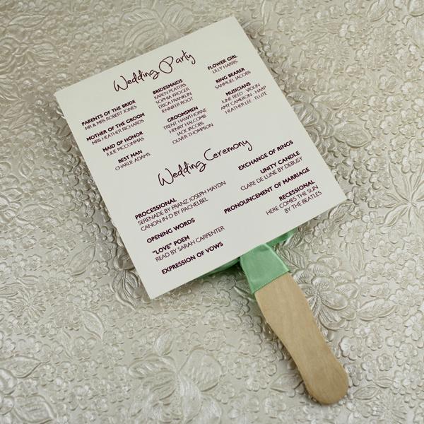 Wedding Program Fan Templates New Wedding Program Paddle Fan Template – Matelasse Design