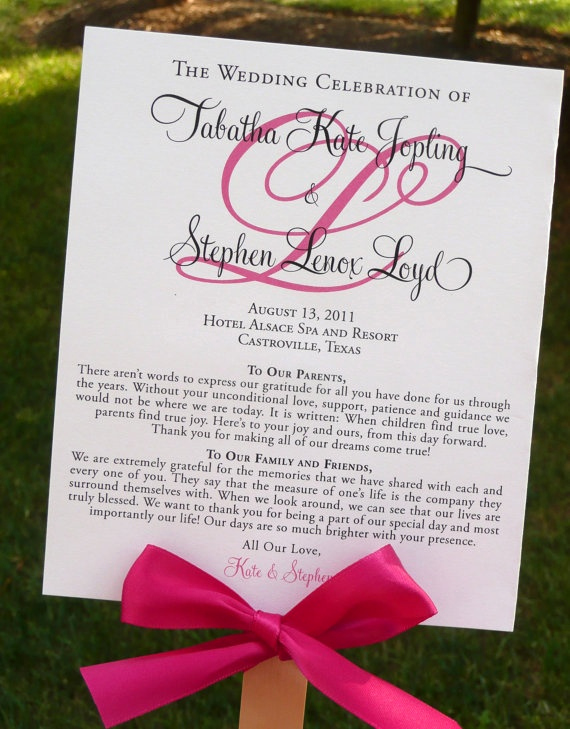 Wedding Program Fans Template Awesome Diy Ceremony Program that Doubles as A Fan