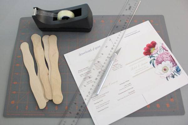 Wedding Program Fans Template Awesome Diy Pretty Blooms Wedding Program Paddle Fan