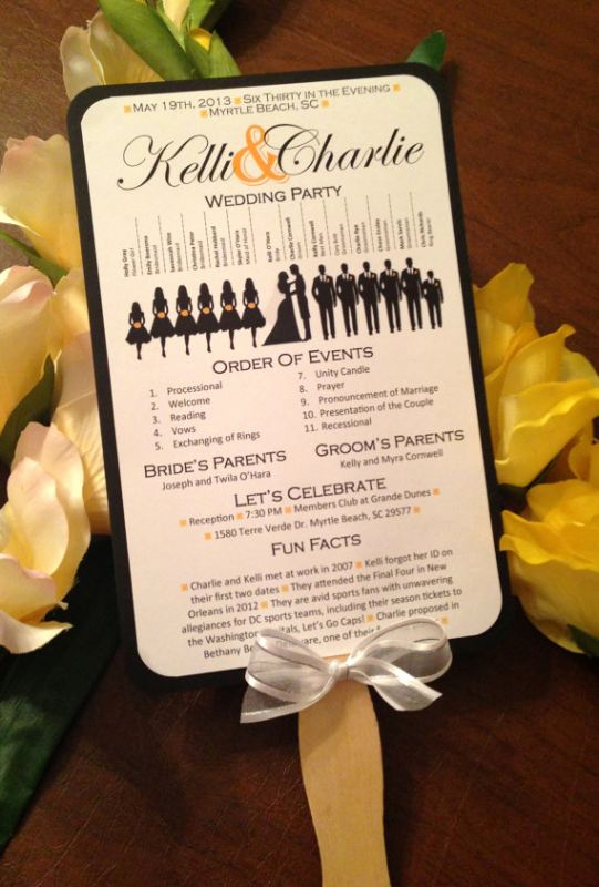 Wedding Program Fans Template Lovely A Round Up Of Free Wedding Fan Programs B Lovely events