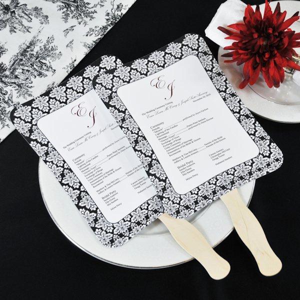 Wedding Program Fans Template Lovely Diy Wedding Program Fans Kit with Design Template