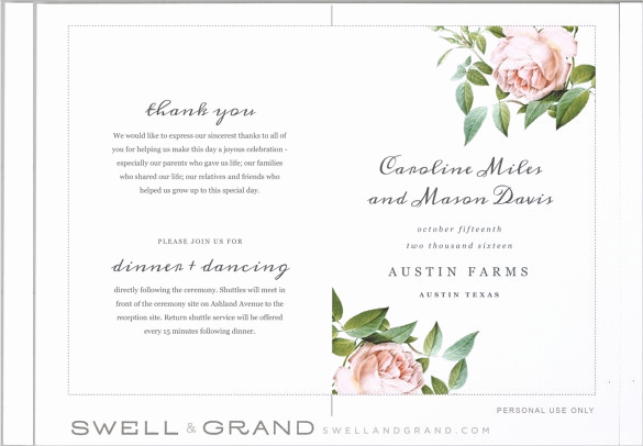 Wedding Program Template Free Best Of Wedding Program Templates – 15 Free Word Pdf Psd