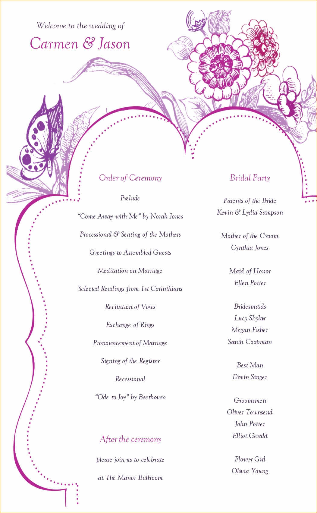 Wedding Program Template Free Best Of What is A Wedding Program Template