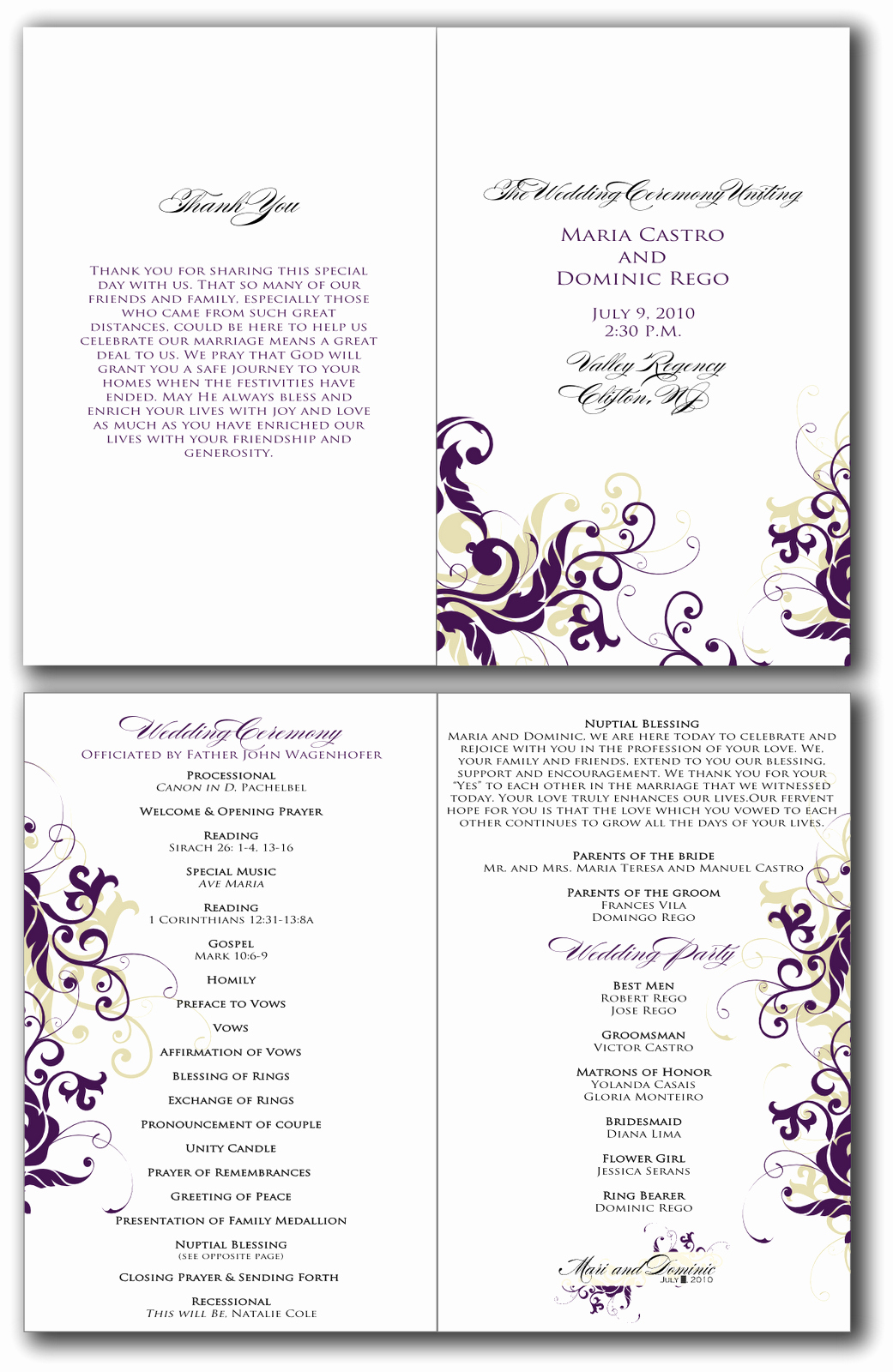 Wedding Program Template Free Inspirational 8 Best Of Free Printable Church Program Design